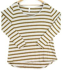 LuLaRoe Long Sleeve Shirt Womens Size 2XL Gray Brown Stripes DURABLE SOFT CUTE!