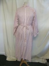 "Ladies Night Dress home made pink floral, bust 36"", long, tie belt, zip 0837"