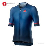 NEW 2021 Castelli AERO RACE 6.0 Full Zip Cycling Jersey : DARK INFINITY BLUE