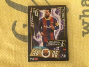 LIONEL MESSI MATCH ATTAX 2020/21 POWER PLAY CARD PP-19 EXCLUSIVE