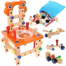 Werkbank aus Holz mit Zubehör Spiel-Werkbank für kleine Erfinder 54 tlg. 9441