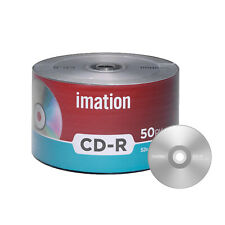 50 Pack Imation CD-R 52X 700MB/80Min Branded Logo Blank Media Recordable Disc