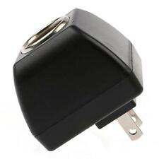 New Black AC Wall To 12V DC Car Cigarette Lighter Socket Charger Adapter Power