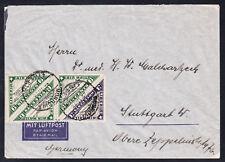 Liberia # C3C C3F (3) 1938 Cover to Germany Interesting Return Address