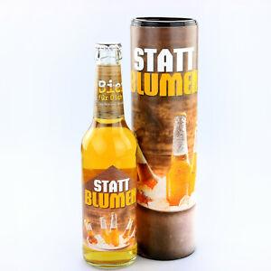"""""""Statt Blumen"""" Biergeschenk für den Mann zum Vatertag oder Geburtstag Bier für.."""