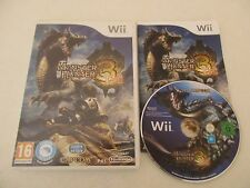 MONSTER HUNTER 3 TRI - NINTENDO WII - Jeu WII PAL FR COMPLET