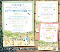 10 Peter Rabbit Beatrix Potter Jemima Personalised Baby Shower Party Invitations