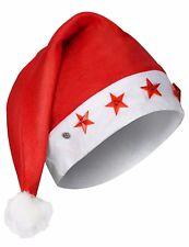 Cappello Cappellino Di Babbo Natale Berretto Con Stelle Led Luminose dfh