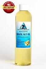 Brazil Nut Oil Organic Carrier Cold Pressed Premium Prime Fresh 100% Pure 8 Oz