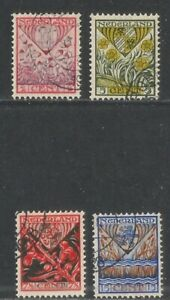 Netherlands 1927 Coats of Arms semipostal--Attractive Art Topical (B21-24) used