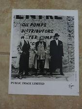 Pil Sex Pistols Rotten Lydon 8x10 B&W Publicity Picture Promo Photo