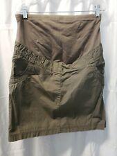 Yessica Maternity Skirt 12 Olive Green Knee length