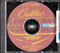 1958 Cadillac Repair Shop Manual CD 58 Deville Eldorado 62 60 Special Fleetwood