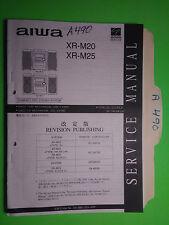 Aiwa xr-m20 m25 service manual original repair book stereo cd player radio