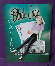Black Jack Casino - Tin Sign