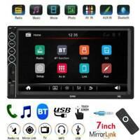2 DIN 7 inch Car Stereo MP5 Player Bluetooth AUX USB FM Radio Receiver Head Unit