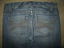 AEROPOSTALE Bayla Skinny Leg Stretch Medium Blue Denim Jeans Women Sz 1/2 x 31.5