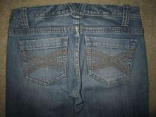 AEROPOSTALE Bayla Skinny Leg Stretch Medium Blue Denim Jeans Women Sz 1/2 x 31.5