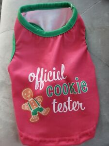 NEW Official Cookie Taster Christmas Pet Dog Puppy Pajama shirt (xS) so cute!
