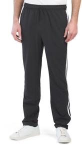 Adidas Wind Pants Mens XL Black Essential 3 Stripes Lightweight Training 31 Inch