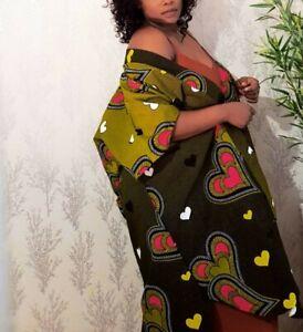 AFRICAN PRINTED FABRIC ANKARA KIMONO JACKET 100%COTTON