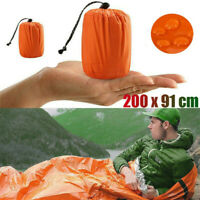 3x Emergency Sleeping Bag Thermal Waterproof For Outdoor Survival Camping Hiking