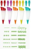 Cake Decorating Silicon Pen  Icing Piping Nozzle Tool Set Cupcake Sugarcraft DIY