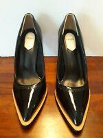 FENDI Black Mary Jane Fframe Court Heels-WITHOUT STRAP Sz.39