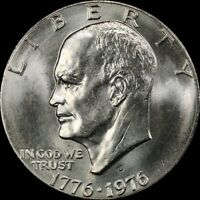 "1976 D Eisenhower Type 2 Dollar ""About Uncirculated"" US Mint Coin AU Ike"