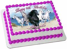 HORSE  REAL EDIBLE ICING  CAKE TOPPER PARTY IMAGE FROSTING SHEET