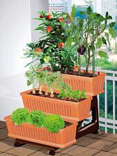Orto di Bama 3 fioriere con sottovasi