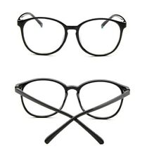Cool Unisex Clear Lens Nerd Geek Round Glasses Eyewear For Men Womens Vintage
