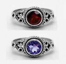 RUBY AMETHYST Gemstone 925 Sterling Silver Ladies Gemstone Ring Jewellery Gift