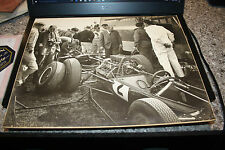 "LOTUS  A PHOTOGRAPHERS PRIZE ENTRY PHOTO  ""IN THE PADDOCK"" 1960S  SUPERB"