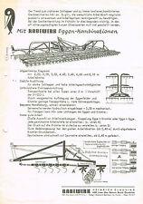 Rabewerk Eggen- Kombinationen, orig. Prospekt 1971