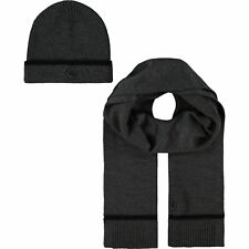 Pretty Green Men's Tipped Knitted Beanie and Scarf Gift Set Boxed