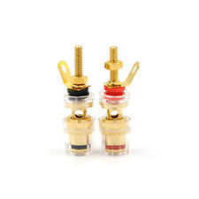 2Pcs 4MM Brass Speaker Amplifier Terminal Binding Post Connector Red and Blac Hy