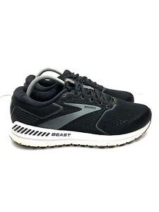 Brooks Beast 20 Athletic Running Shoes Black/White 1103271D051 Men's Size 10.5