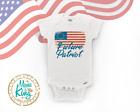 Future Patriot Flag Baby Onesie Newborn Gift-Flag-Vintage -Patriotic
