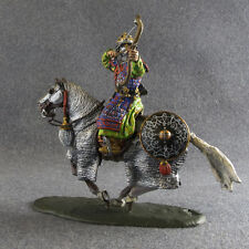 Painted Toy Soldier Knight 1/32 scale Medieval Mounted Bowman Tin Metal Cavalry
