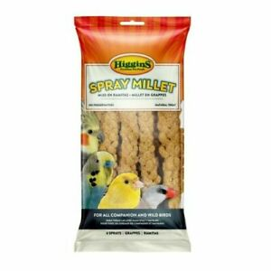 Higgins MILLET SPRAY 12 Piece Bag FRESH Parrots Birds Sealed Food Treat Keet