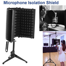 Budget Microphone Shield Isolation Reflection Filter Screen Vocal Booth + Tripod