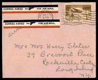 CANAL ZONE BALBOA HEIGHTS SEPTEMBER 7 1947 AIR MAIL COVER TO ROCKVILLE CENTRE NY