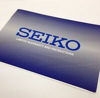 SEIKO Original watch Instructions booklet with Warranty Card
