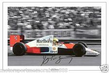 Ayrton Senna SINGED 6x4 PHOTO PRINT FORMULA ONE F1  AUTOGRAPH