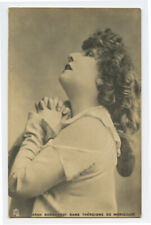 c 1904 French Actress SARAH BERHARDT international theater star photo postcard