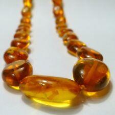 Collar Mujer Collar Cadena 66Cm Piedra Natural Ámbar 10-23 Mm