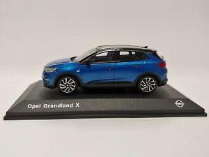 [NEU] Modellauto OPEL Grandland X 1:43 blau/schwarz Sammlermodell OC11023