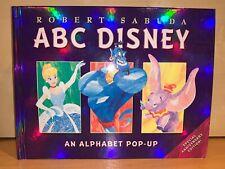 ABC Disney: An Alphabet Pop-Up Book by Robert Sabuda, 1998 1st Edition HC