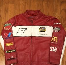 Wilson's Leather Chase Authentic's Kasey Kahne Full Zip Leather Jacket sz L